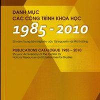 Danh mục các công trình khoa học (1985-2010)