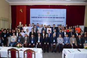 "VNU Central Institute for Natural Resources and Environmental Studies held the international scientific conference on ""Marine plastic pollution in Vietnam: Current situation and solutions""."